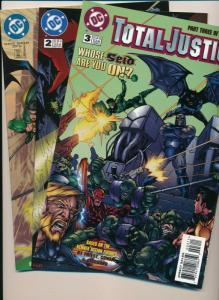 TOTAL JUSTICE #1,2,3 Mini Run, Batman Flash Etc ~ VF/NM (PF613) DC Comics