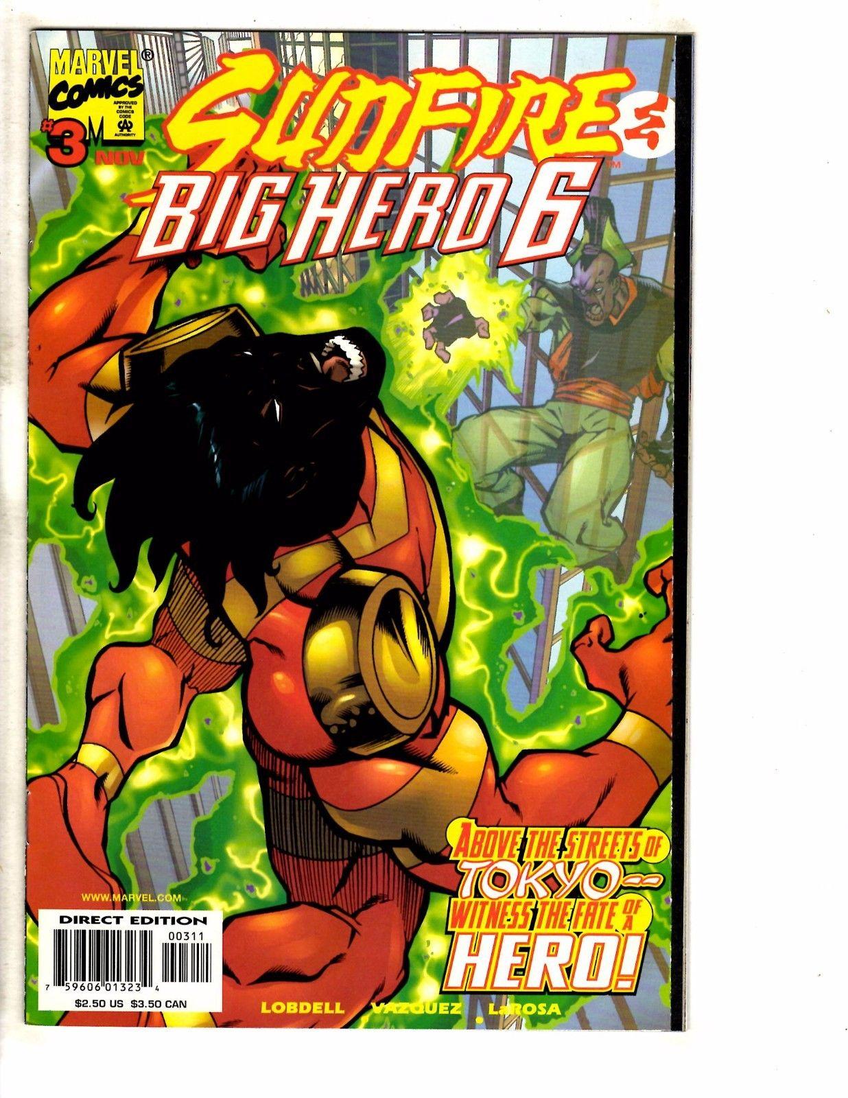 Big Hero Comic sunfire & big hero 6 complete marvel comics ltd series #1 2