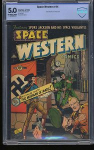 Space Western #44 CBCS VG/FN 5.0 Cowboys and Nazis on Mars!!