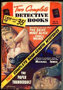 TWO COMPLETE DETECTIVE BOOKS WINTER 1953-GEORGE GROSS GOOD GIRL ART-PULP -vg-
