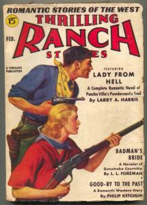 Thrilling Ranch Stories Pulp February 1939- Pancho Villa