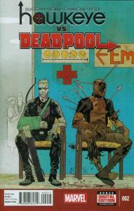 Hawkeye vs. Deadpool #2, NM + (Stock photo)