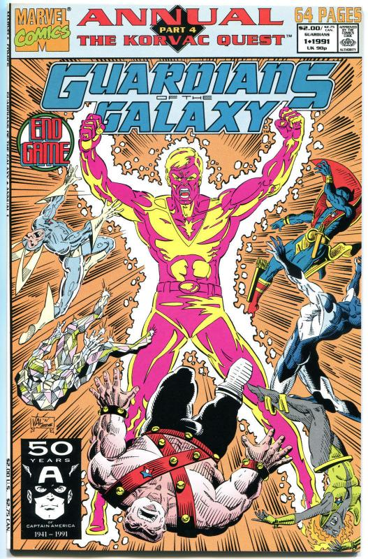 GUARDIANS of the GALAXY #1, Annual,  NM, StarHawk,1991, more GoG in store