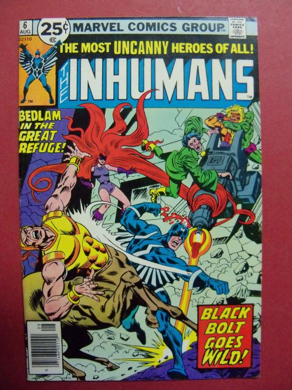 THE INHUMANS #6 AUG 1976 VERY FINE (8.0) OR BETTER MARVEL COMICS