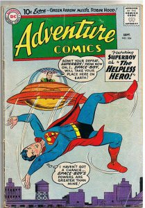 ADVENTURE COMICS #264, GD+, Superboy, Space, 1959, Aquaman  Sea Police