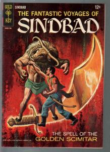 Fantastic Voyages of Sinbad #2 1962-painted cover-final issue-VF+