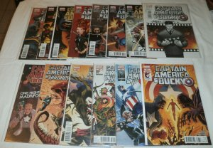 Captain America and Bucky/Hawkeye/Iron Man #620-628,629-632,633 (set of 14)
