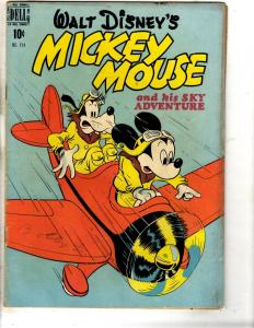 Four Color # 214 VG Dell Golden Age Comic Book Walt Disney Mickey Mouse J314