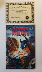 Batman Vs. Predator : The Collected Edition TPB Signed by Andy & Adam Kubert COA