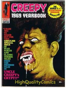 CREEPY 1969 YEARBOOK, VF, Frank Frazetta, Wally Wood, Vampire, Warren