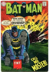 BATMAN #215 1969- DC Comics- Call Me Master FN