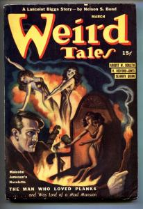 Weird Tales Pulp March 1941- Brundage cover- Seabury Quinn- Nelson Bond fn-