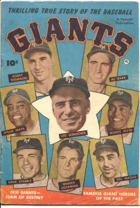 THRILLING TRUE STORY OF THE BASEBALL GIANTS-1952-FAWCETT-WILLY MAYS PHOTO COVER