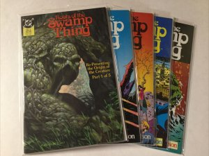 Roots Of The Swamp Thing 1-5 1 2 3 4 5 Lot Set Run Nm- Near Mint- Dc Comics