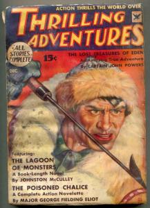Thrilling Adventures Pulp December 1934- Lagoon of Monsters