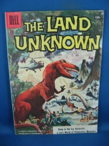 FOUR COLOR 845 LAND UNKNOWN F VF TOTH DINOSAUR COVER 1957