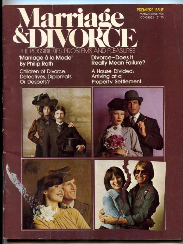 Marriage and Divorce Magazine #1 March 1974- Philip Roth