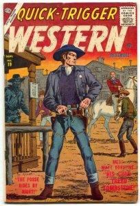 Quick-Trigger Western #19 1957- Atlas- Severin cover FN