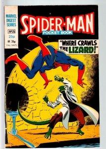 SPIDER-MAN MARVEL DIGEST SERIES #25-JOHN ROMITA ART-LIZARD APPEARS-1982-BR FN