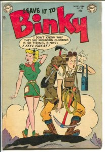 Leave It To Binky #35 1953-DC-mountain climbing headlights cover-teen humor-VG+