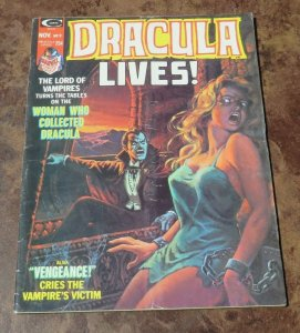 Dracula lives #9 FN- 1974 Horror Magazine Vampire's Victim Lord of the Undead