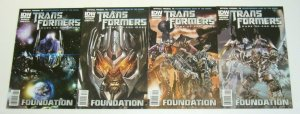 Transformers: Dark of the Moon Prequel - Foundation #1-4 VF/NM complete series