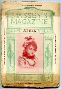 Massey's Magazine Pulp April 1897- James Matthew Barrie- Philippines VG-