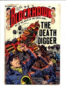 BLACKHAWK #80-THE DEATH DIGGER!!! VG