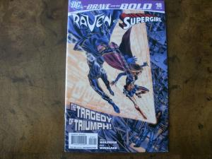 DC Comic Book: (2008) THE BRAVE AND THE BOLD #18 Raven & Supergirl
