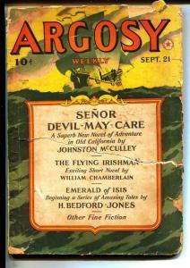 Argosy-Pulps-9/21/1940-Perry Adams-Johnston McCulley