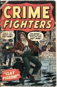 CRIME FIGHTERS #13-1955-ATLAS-PRE CODE-MURDER-ROBBERY-LIQUOR-JOHN SEVERIN ART VI