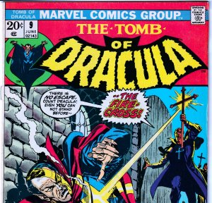 Tomb of Dracula(vol. 1) # 9  At the Mercy of a Fiery Cross !