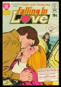 FALLING IN LOVE #123 1971-DC ROMANCE-LOVE PROBLEMS-RARE FN