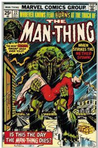MAN THING (1974) 22 F-VF Oct. 1975 COMICS BOOK