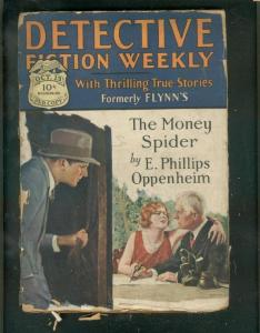 DETECTIVE FICTION WEEKLY PULP-10/13/28-MONEY SPIDER-OLD FR