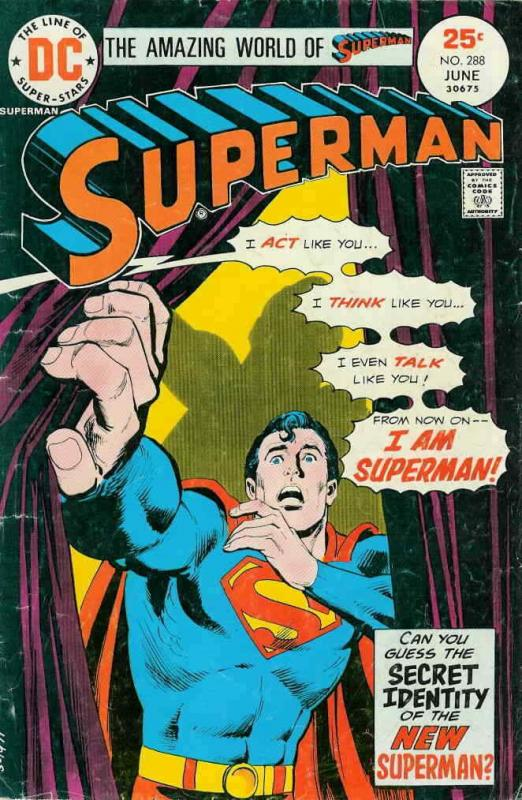 Superman (1st Series) #288 VG; DC | low grade comic - save on shipping - details