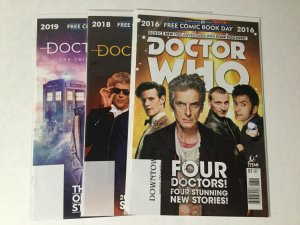 Doctor Who Free Comic Book Day 2016 2018 2019 Lot Nm Near Mint Titan