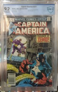 Captain America #277 CBCS 9.2 1st full appearance of Baron Zemo