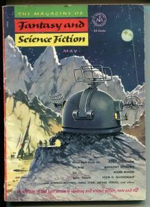 Magazine of Fantasy and Science Fiction 5/1953-sci-fi pulp-John D MacDonald-G/VG
