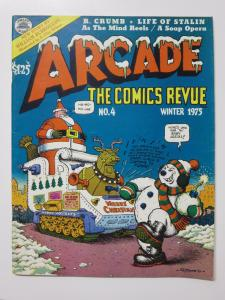 Arcade the Comics Revue #4 Winter 1975 Frosty the Snowman by R. Crumb Burroughs