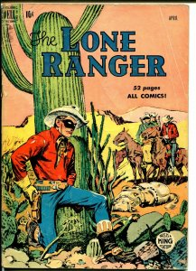 Lone Ranger #22 1950-Dell-Tonto Silver-early red shirt issue-G