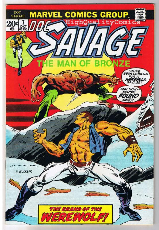 DOC SAVAGE #7, VF, Man of Bronze, Werewolf, 1975