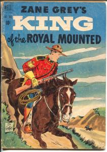 King of The Royal Mounted-Four Color Comics #340 1951-Dell-Zane Grey-RCMP-G/VG