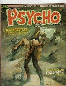 6 Magazines Psycho 1971 Hot Rod Cartoons Eerie 76 32 Giant Cracked Field JK36