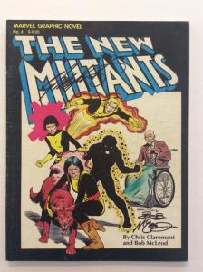 MARVEL GRAPHIC NOVEL #4- 1st New Mutants- Signed by Chris Claremont & Bob McLeod