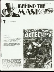 BEHIND THE MASK 1991 #7-PULP FANZINE-BLACK HOOD FN