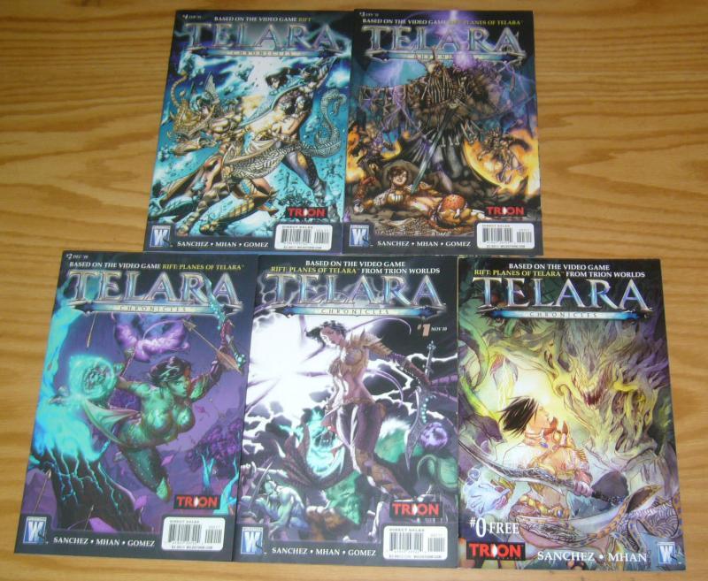 Telara Chronicles #0 & 1-4 VF/NM complete series based on RIFT PLANETS OF TELARA