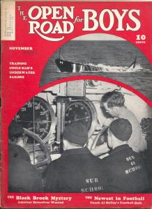 Open Road For Boys 11/1941-mystery pulp fiction-aviation-thrills-VG-