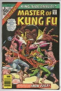 MASTER OF KUNG FU #1 Annual, VF-, Martial Arts, Marvel, Iron Fist 1976