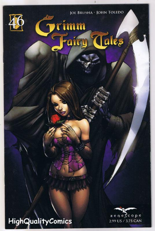 GRIMM FAIRY TALES 46, VF+, GodFather Death, Zenescope, 2005, more GFT in store